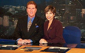 Before they left: the 5 & 11pm Anchors, Harold Greene and Laura Diaz